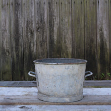 Load image into Gallery viewer, Vintage Galvanised Planter Bucket Heavy Duty