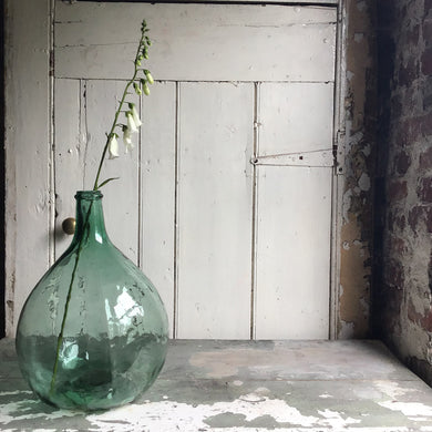 Green Vintage Glass Bottle Carboy