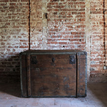 Load image into Gallery viewer, Extra Large Antique Travel Trunk Chest