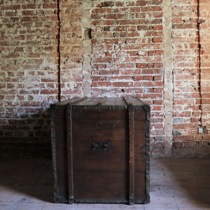 Extra Large Antique Travel Trunk Chest