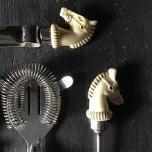 Load image into Gallery viewer, Mid Century Horse Head Cocktail Set