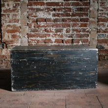 Load image into Gallery viewer, Painted Black Vintage Trunk Chest