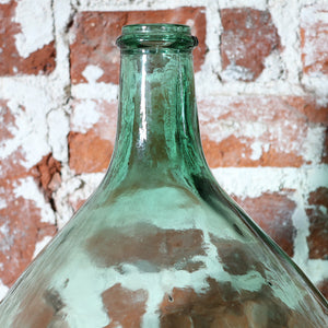 Vintage Green Glass Carboy