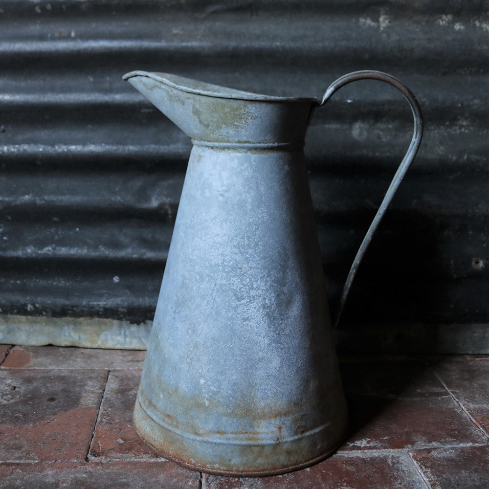 Extra Extra Large French Vintage Galvanised Jug