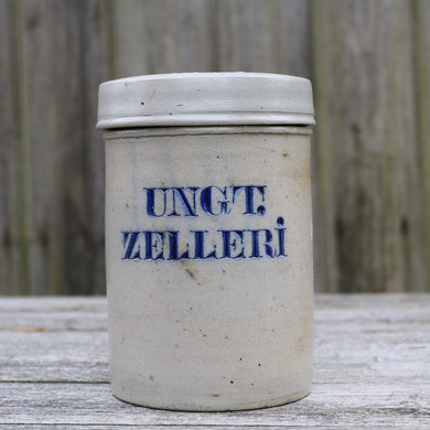 Antique Stoneware Pharmacy Laboratory Apothecary Jar UNGT.ZELLRI.