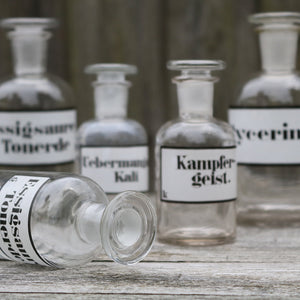 Apothecary Lab Pharmacy Bottles Vintage - Set of Five