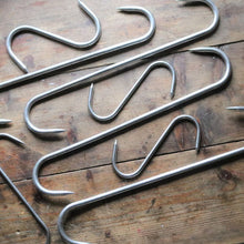 Load image into Gallery viewer, Original Large Stainless Steel Butcher's Hooks - Set of 9