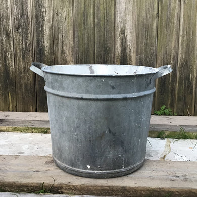 Vintage Galvanised Planter Tub Container Pot #3