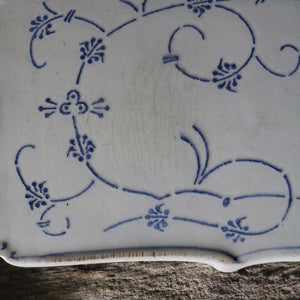 Antique White Porcelain Bread Board Serving Platter - 2