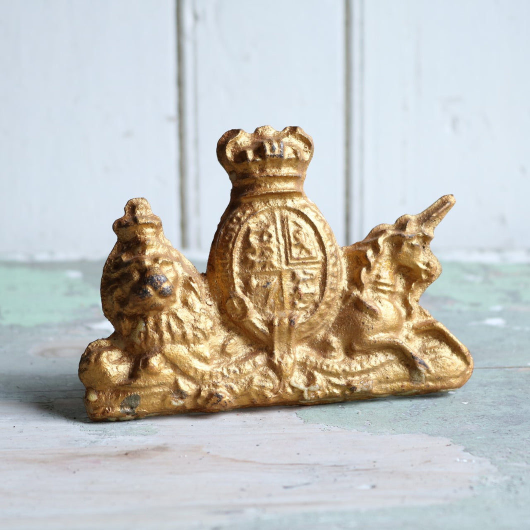 Gold Cast Iron Coat of Arms