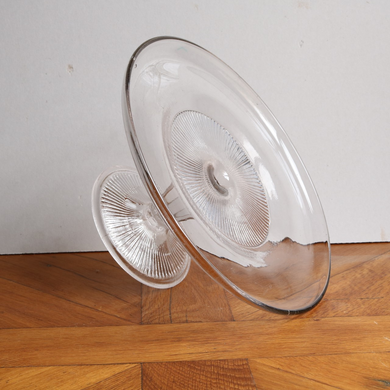 Vintage Pressed Glass Cake Stand - Extra Large