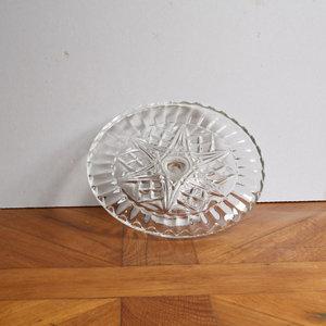 Vintage Pressed Glass Cake Stand - Medium A
