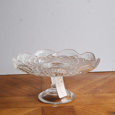 Vintage Pressed Glass Cake Stand - Medium E