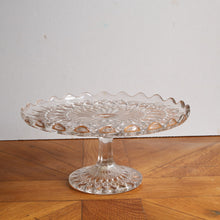 Load image into Gallery viewer, Vintage Pressed Glass Cake Stand - Medium G