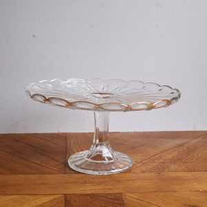 Vintage Pressed Glass Cake Stand - Large A