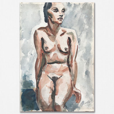 Original Watercolour, Seated Nude - 1938