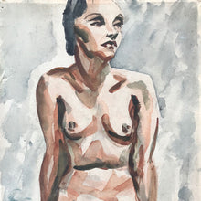 Load image into Gallery viewer, Original Watercolour, Seated Nude - 1938