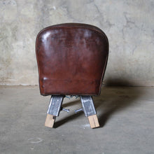 Load image into Gallery viewer, Small Vintage Leather Gymnasium Pommel Horse