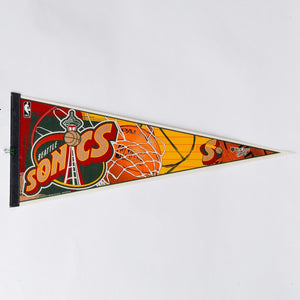 Seattle Sonics Basketball Vintage Pennant