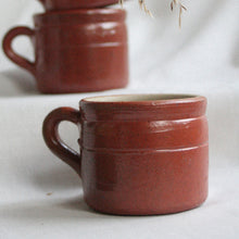 Load image into Gallery viewer, Set of Six French Salt Glazed Espresso Cups