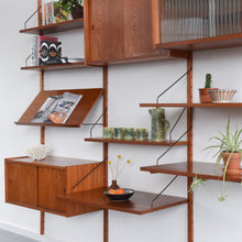 Load image into Gallery viewer, Vintage Danish Preben Sorensen for Randers Mobelfabrik Teak Modular Wall Mounted Shelving Unit