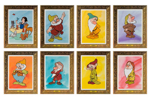 Snow White and the Seven Dwarfs R1975 US Lobby Cards Set