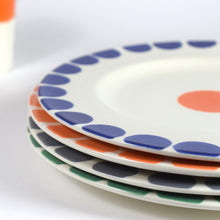 Load image into Gallery viewer, Set of Four Spotted Earthenware Dinner Plates