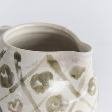 Load image into Gallery viewer, Vintage Stone and Khaki Patterned Studio Pottery Stoneware Jug