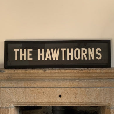 Framed Vintage Bus Blind - The Hawthorns