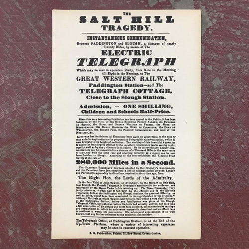 The Salt Hill tragedy exhibtion print