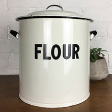 Load image into Gallery viewer, Vintage Enamel Flour Bin