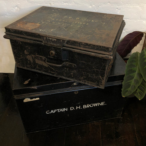 Vintage World War II Military Storage Trunk
