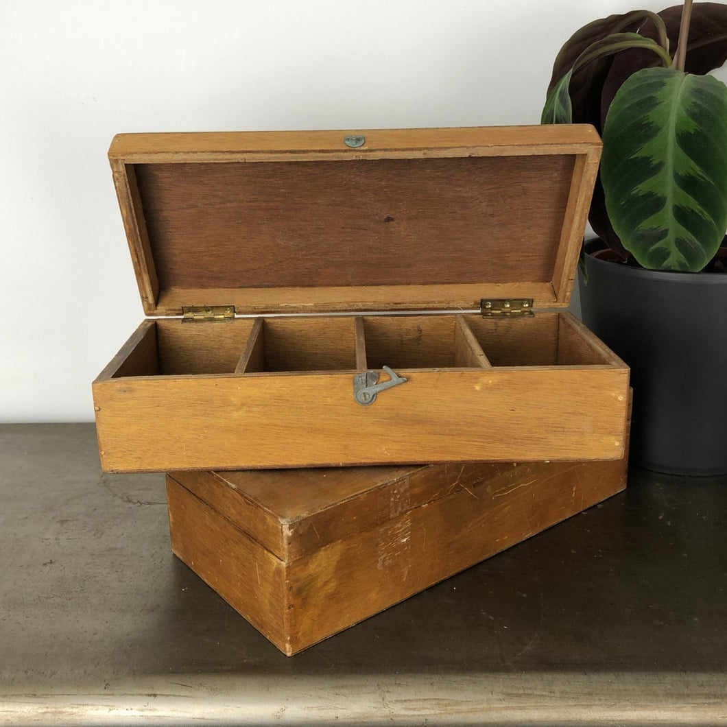 Vintage Wooden Compartment Box