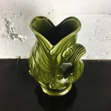 Load image into Gallery viewer, Vintage Green Fish Glug Jug
