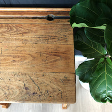 Load image into Gallery viewer, Vintage Wooden School Desk