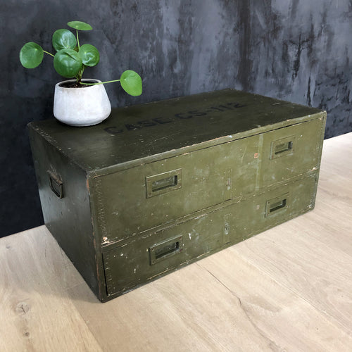 Vintage wooden military chest