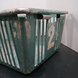 Children's Large Green Storage Basket from Germany