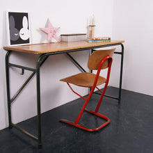 Load image into Gallery viewer, Children's tall French dark green metal legged desk