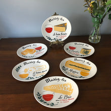 Load image into Gallery viewer, Mid Century French Cheese Plates