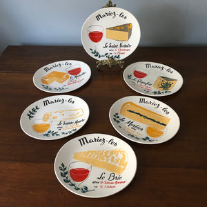 Mid Century French Cheese Plates