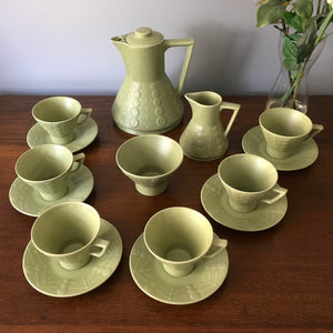 Mid Century Modernist Tea Set by Maxwell Wood