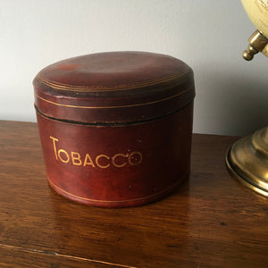 Old Leather Tobacco Pot