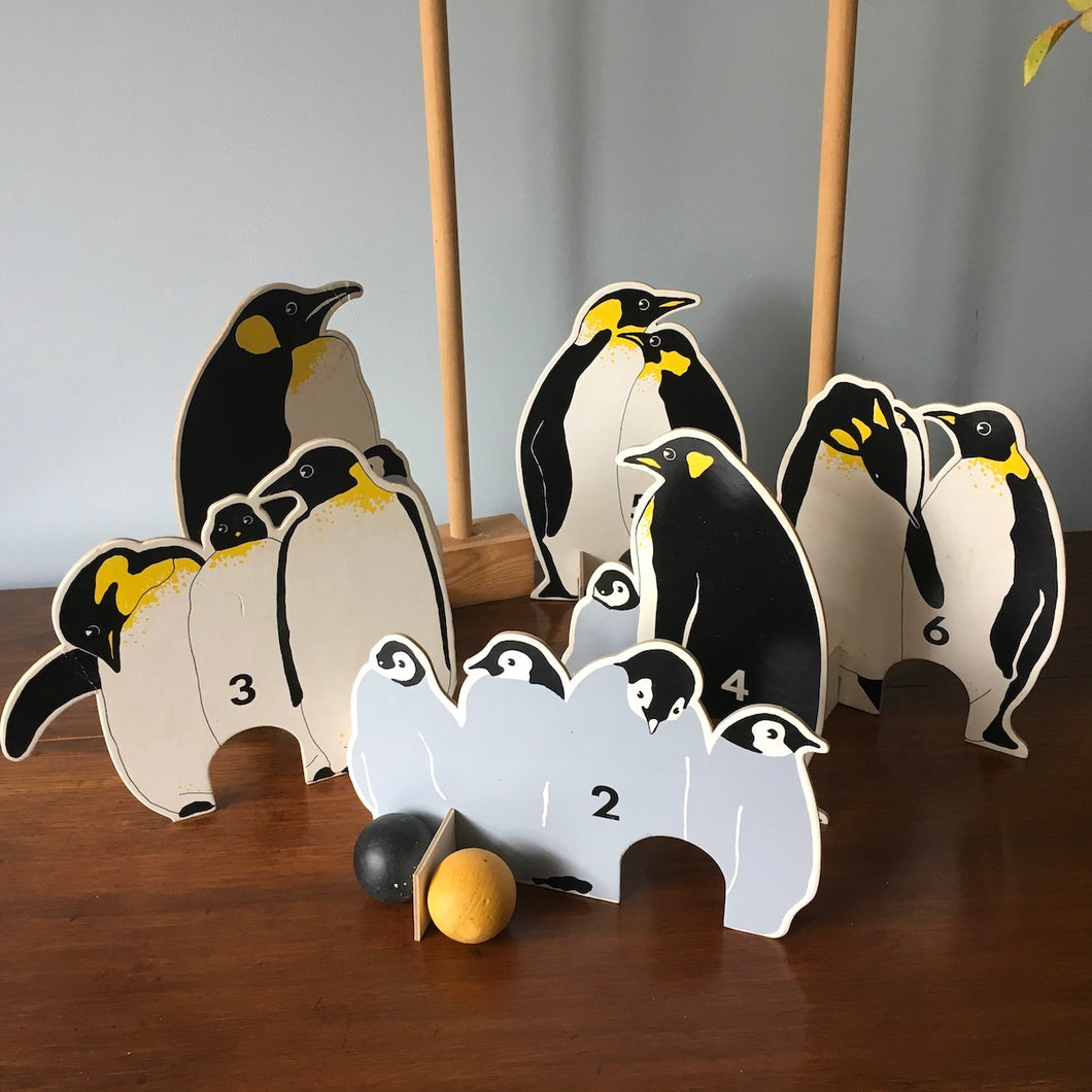 Penguin Croquet Set