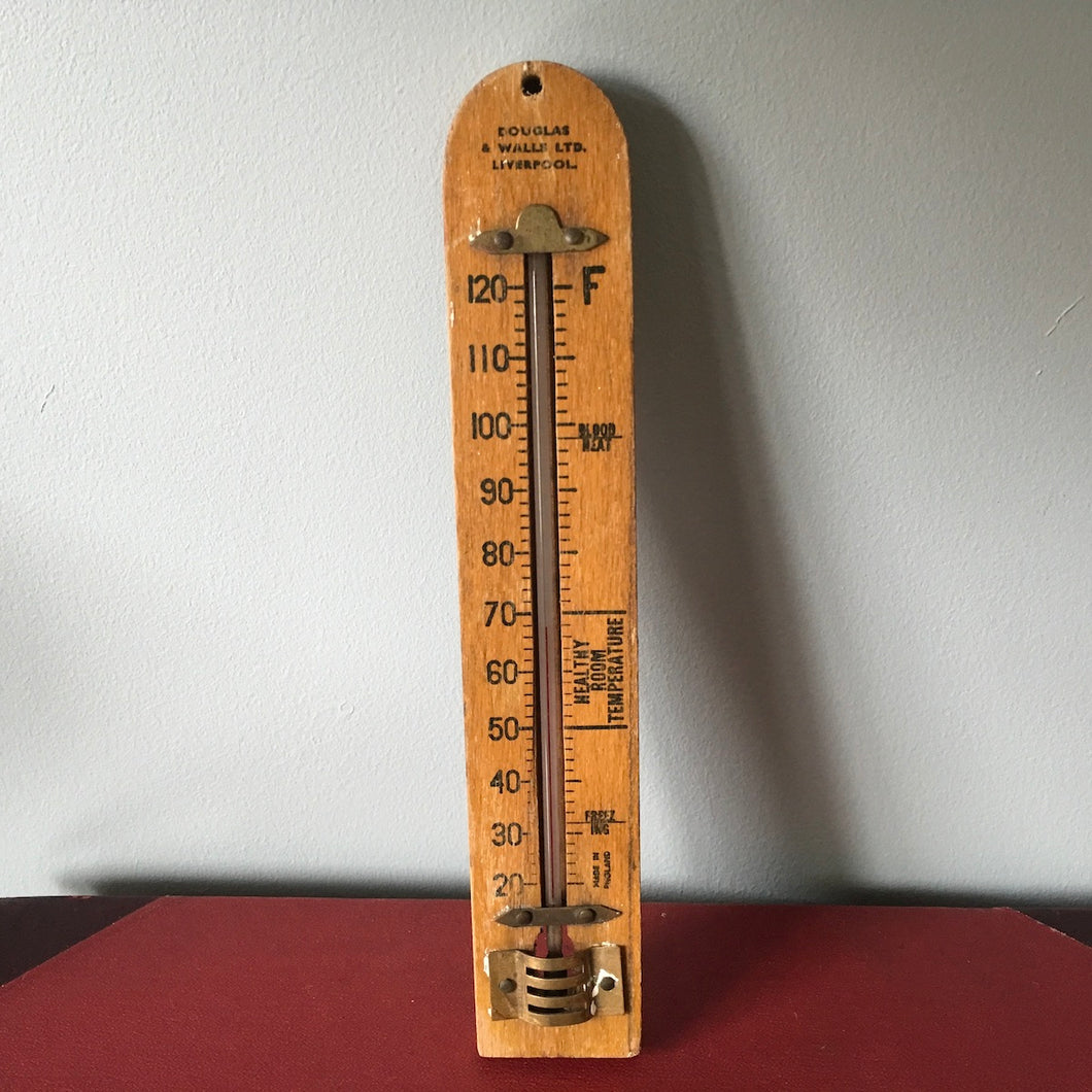 Vintage Wooden Thermometer