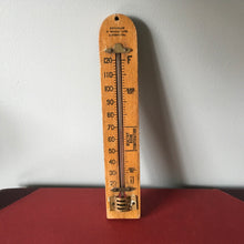 Load image into Gallery viewer, Vintage Wooden Thermometer