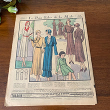 Load image into Gallery viewer, 1930 French Fashion Magazine - 28