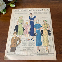 Load image into Gallery viewer, 1936 French Fashion Magazine - 21