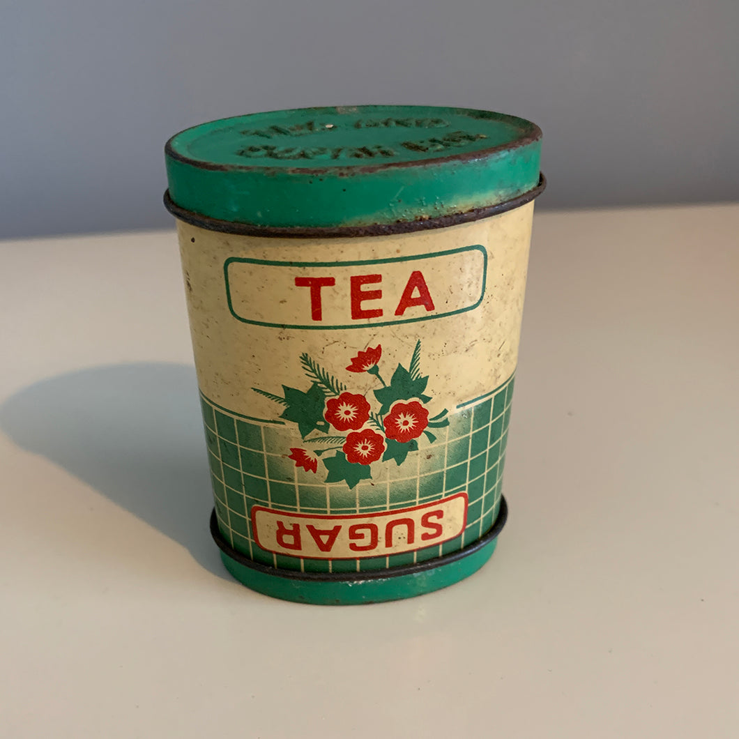 1940s Small Tea And Sugar Canister