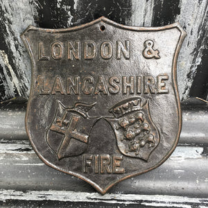 1970s Salop Iron Fire Plaque