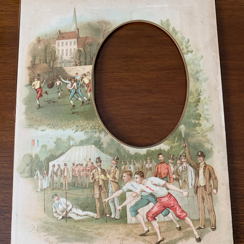 19th century frame , Foot racing, Football
